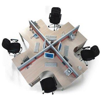 Office desking system furniture modular workstation free for Muebles oficina wks