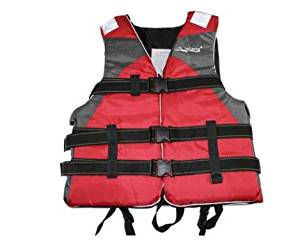 Adult life jackets drift snorkeling surfing wear vests vests take off with life jackets , red , l
