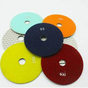 "4"" Dry Granite Diamond floor Polishing Pads for Angle Grinder"