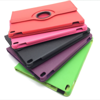 2018 new design colorful 360 degree rotation stand PU leather universal shockproof protective case for ipad