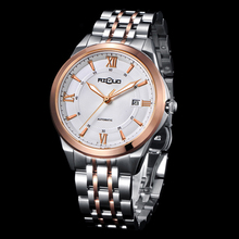 Japan Movement Mechanical Men's Watch Stainless Steel Thin Wrist Watch for Men