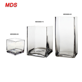 Discount Square Glass Cube Vases Bulk For Wedding Centerpieces Buy