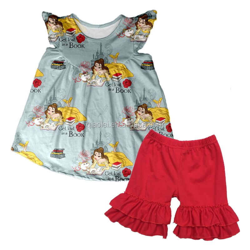 New baby sets get lost in a book outfits girls wholesale boutique clothing