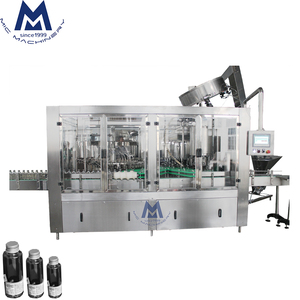 Reasonable Design Full-auto Glass Bottle Filling Sealing Machine / Normal Pressure Gravity Filling Capping Equipment for Drink