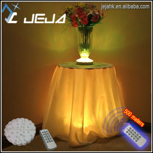 Via RF Remote, The Battery Operated Led Table Lights/under Table Led Light/