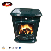 Best Selling Cast Iron Enamel Color Coated Cheap Wood Burning Stoves For Sale
