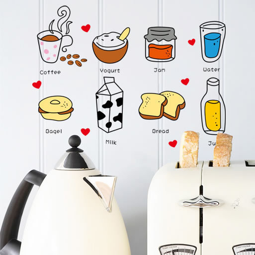 Hot style of kitchen utensils tip item sell like hot cakes Color transparent stickers Small fashion creative home decoration