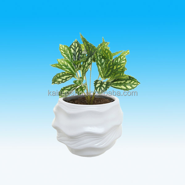 modern white indoor decorative large ceramic plant pot for sale