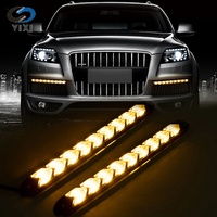 Waterproof Car DRL Turn Signal Lights Styling White/Amber LED Knight Rider Strip Light Arrow Flasher Flowing DRL