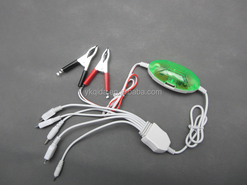 Alligator Clip with female car connector Solar charger