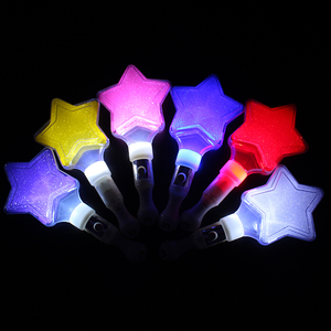 New style 2018 colorful led light star glow stick for concert