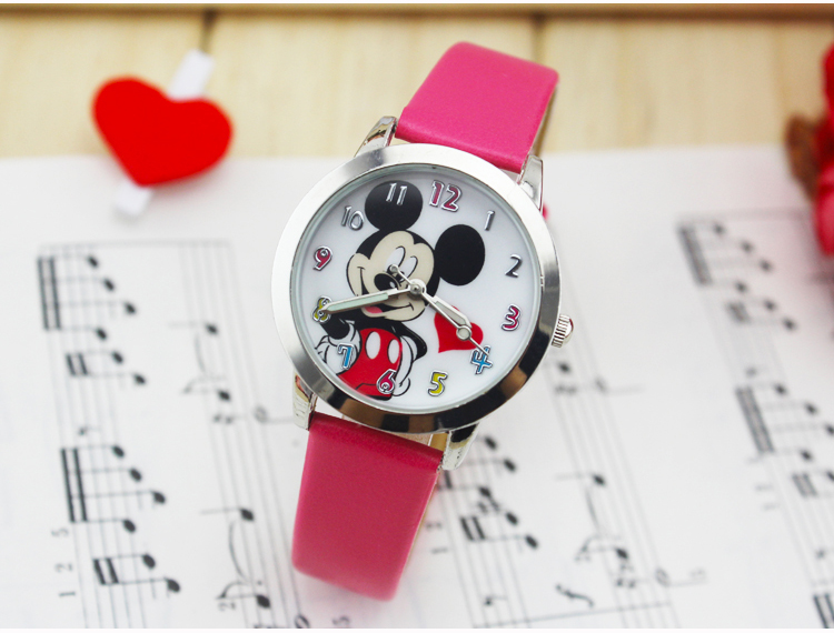 Colorful children cartoon watch women Dress watches Mickey Cute watches lovely relogio Kids Watches reloj mujer