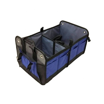 Collapsible Car Trunk Organizer / Auto Portable Trunk Cargo Storage Organizer Carrier with Straps for Car,Truck,SUV And Van