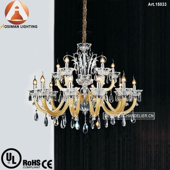 15 Light Unique Crystal Chandelier with Clear Crystal