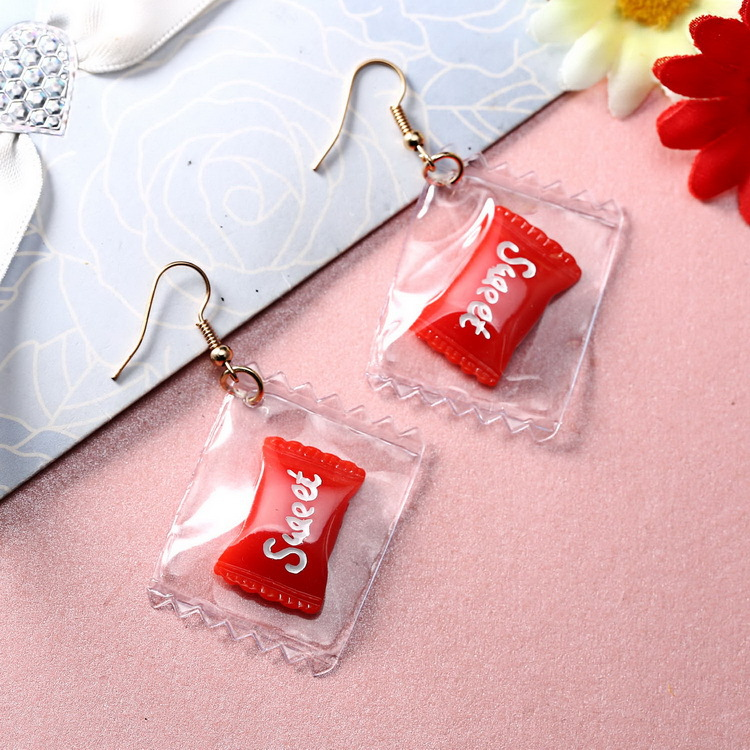 Wholesale new design multi pattern handmade fruit apple earrings women