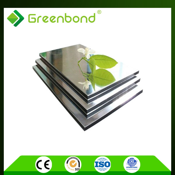 Greenbond mirror finish painting on aluminium composite acp sheet