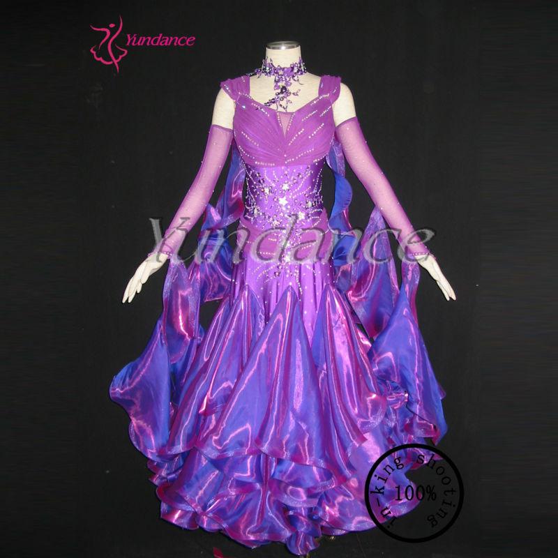 2662ed87ba B-09222 Custom Made Luxury Purple Ballroom Prom Dresses For Women ...