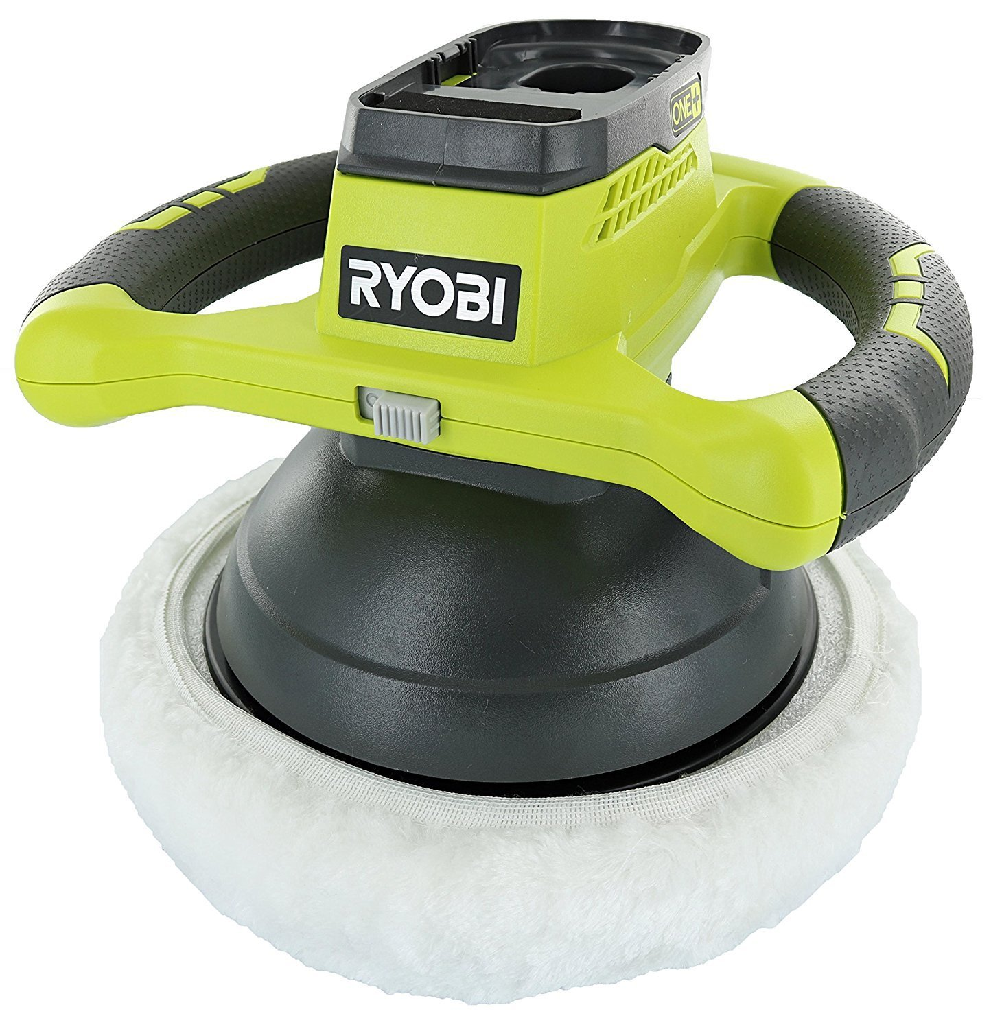 """Ryobi P435 One+ 18V Lithium Ion 10"""" 2500 RPM Cordless Orbital Buffer/Polisher with 2 Bonnets (Battery Not Included, Power Tool Only)"""