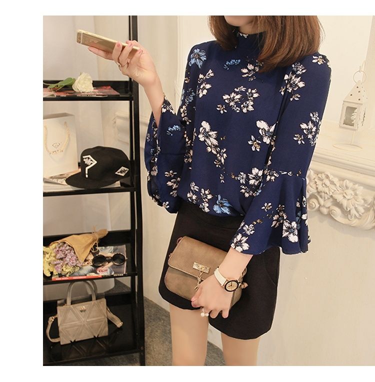 Chiffon Blouse Women Tops Flare Sleeve Shirt Women Ladies Office Blouse Korean Fashion Blusas Femme