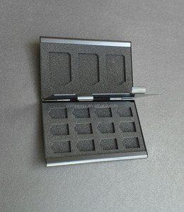 Aluminum Memory Card Holder Case for 24 TF micro sd card