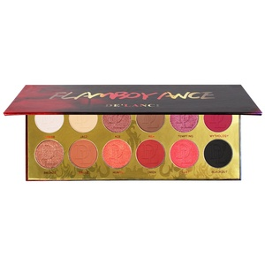 DE'LANCI 12 color Pigmented Eye Shadow Palette Flash Shimmer Eyeshadow with Matte Colors Fall Makeup
