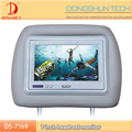 "7""Universal headrest TFT LCD monitor Zipper cover optional"