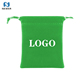 Wholesale green screen printing custom jewelry velvet pouch