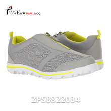 2017 New Design Mesh Upper Zipper Closure No Laces Running Shoes