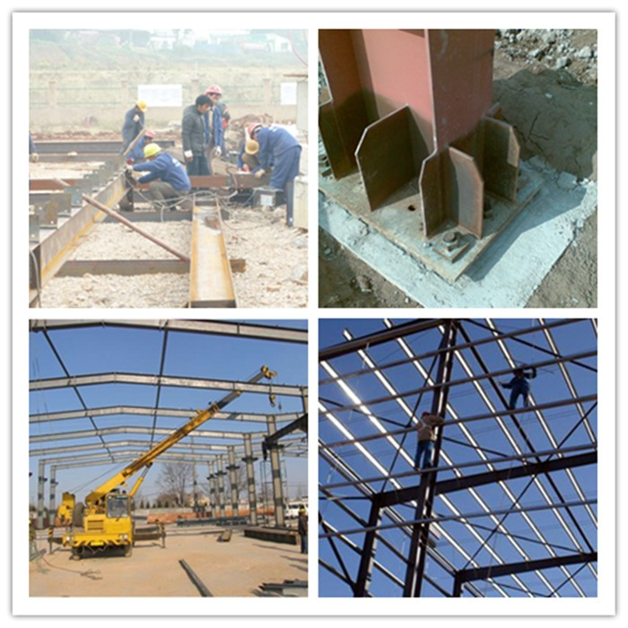 Steel columns and steel structure prefabricated building for Prefab columns