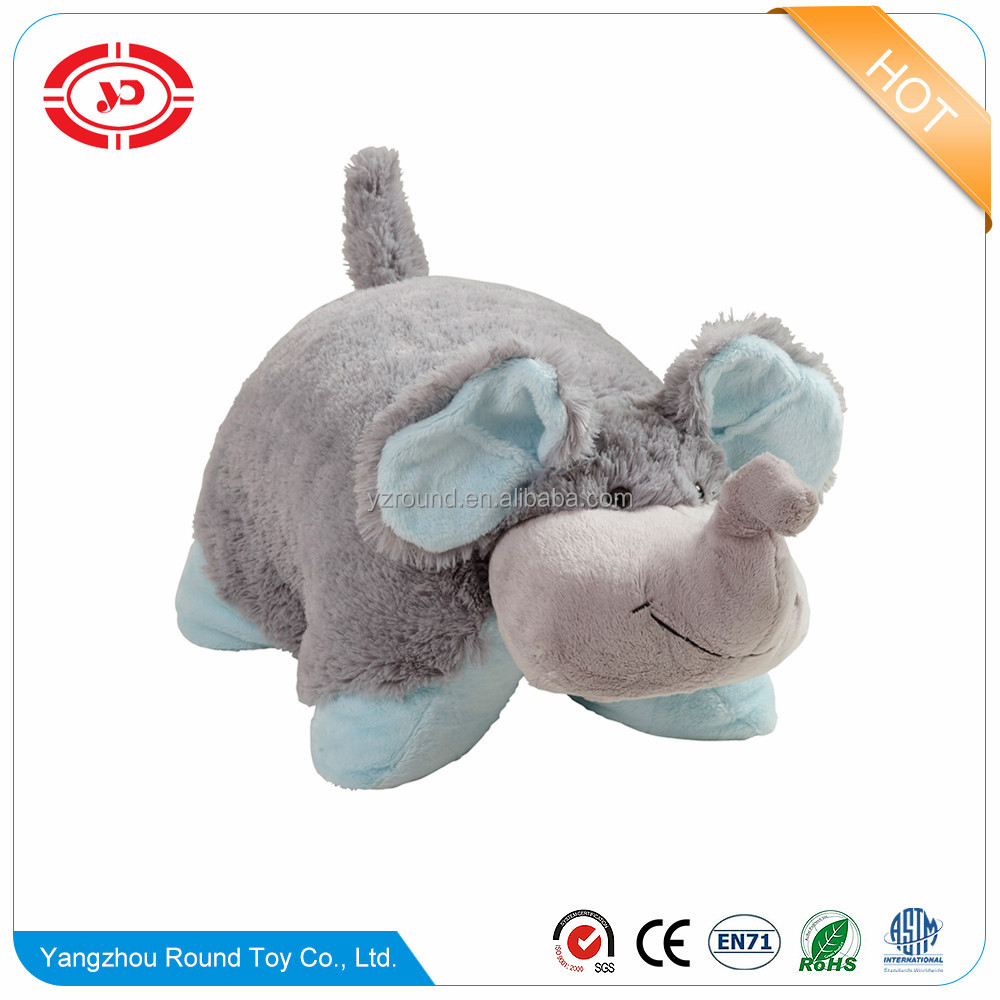 Elephant pillow plush neck pillow toy stuffed soft hot sale kids gift elephant pillow