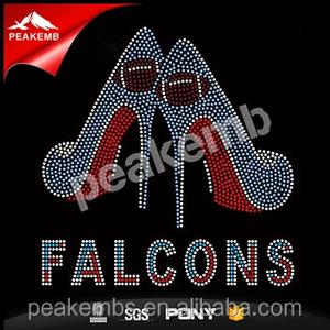 7e015aff Falcons High Heel Rhinestone Transfer, Falcons High Heel Rhinestone ...
