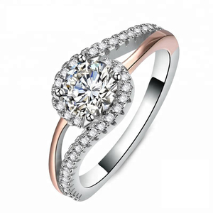 Jewelry Gift 18K Gold Plated 925 Sterling Silver Rings For Women