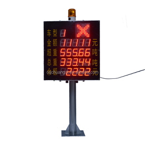 Transparent Weight Price LED Display Screen for Highway toll system export