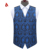 Hot Sale Fashion Navy Paisley Groom Waistcoat Mens Vest