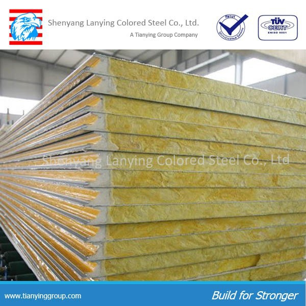 Top quality lightweight partition wall glass wool panel