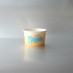 Custom printed colorful disposable paper ice cream bowls