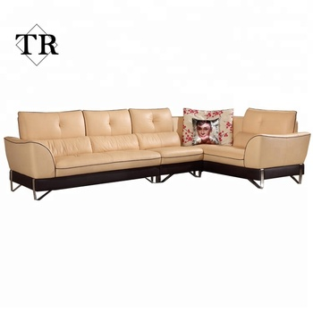 leather L shaped sofa stainless steel base, View leather L shaped sofa,  KARUIDI Product Details from Foshan Turri Furniture Co., Ltd. on Alibaba.com