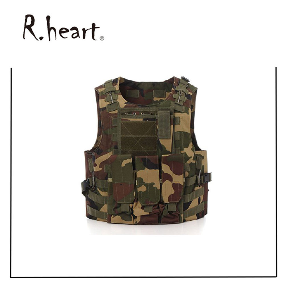 Camo Military Bulletproof Vest Combat Assault Military Army Airsoft Tactical for Police Holster Military Vest