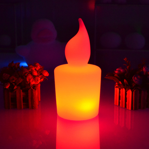 Modern decorative rechargeable waterproof led candle light color glowing candles