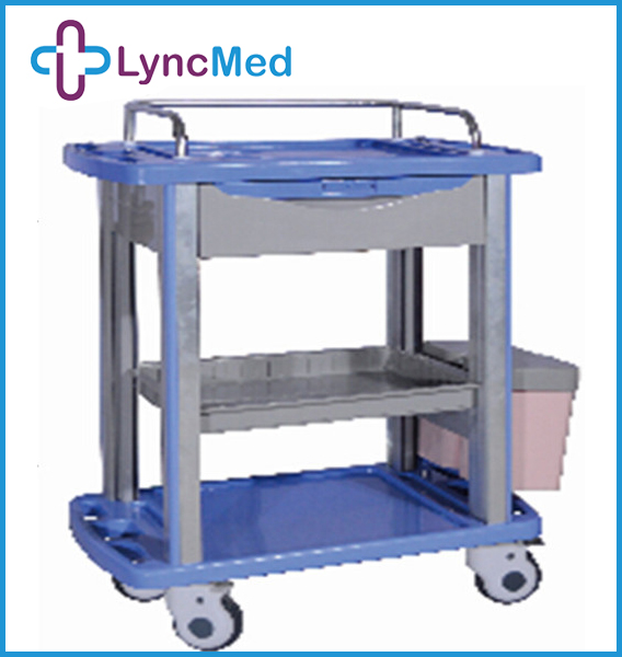 Hot sale trolley cart with instrument hospital treatment trolley medical carts