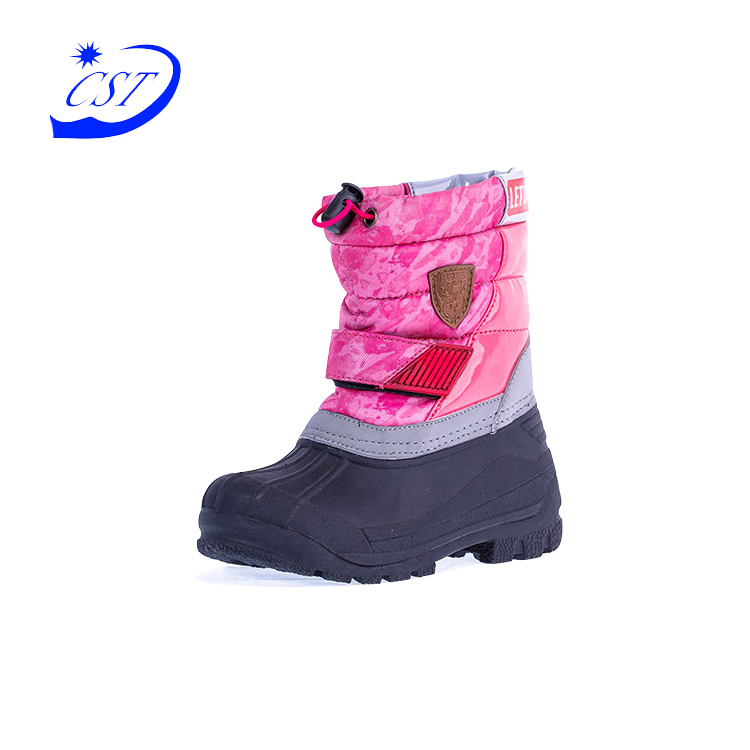 China factory oem service fashion snow boot waterproof kids winter rubber boots