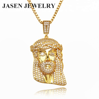 JASEN JEWELRY Gold Plated 925 Sterling Silver Jesus Pendent