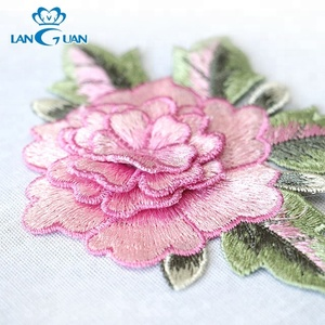 embroidery rose 3d flower applique