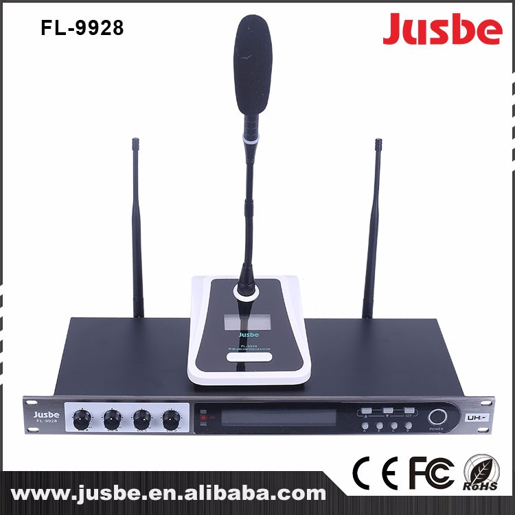 FL-9928 UHF sennheiser microphone ,karaoke microphone bluetooth with high grade low noise microphone cable