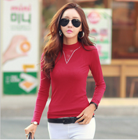 Spring autumn decoration new body mesh gauze lace women T-shirt long sleeves