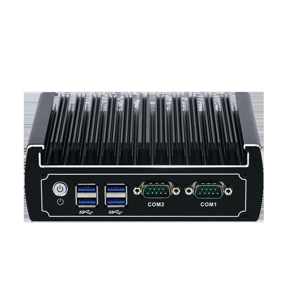 Yanling 6th Gen Intel Core i3 6100u Dual Lan Barebone Mini PC With 2 COM Series Port Support M.2 SSD