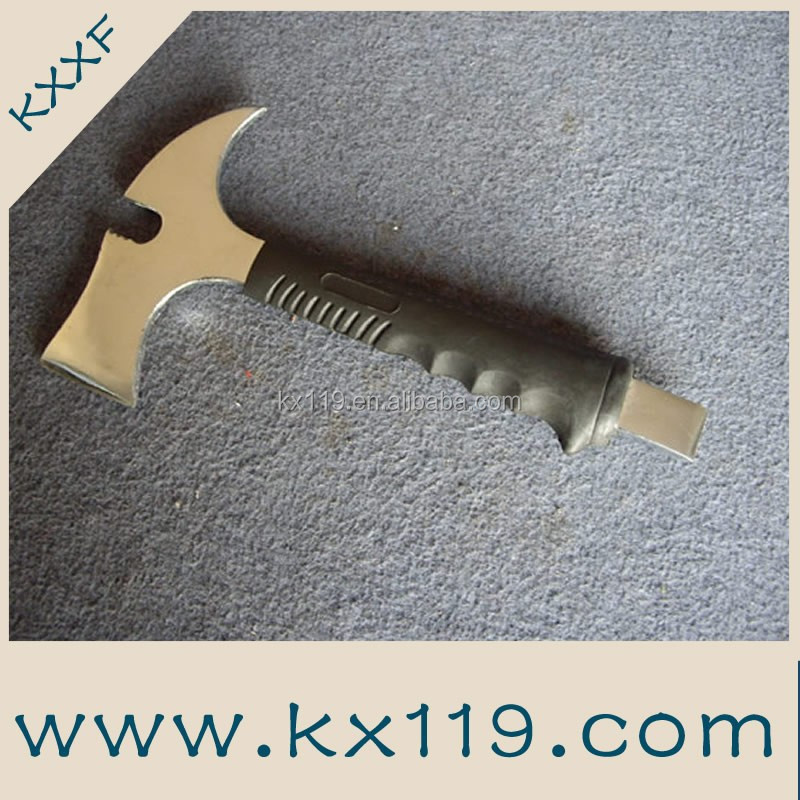 Stainless steel escape rescue axe fire fighting stainless steel damascus steel axe