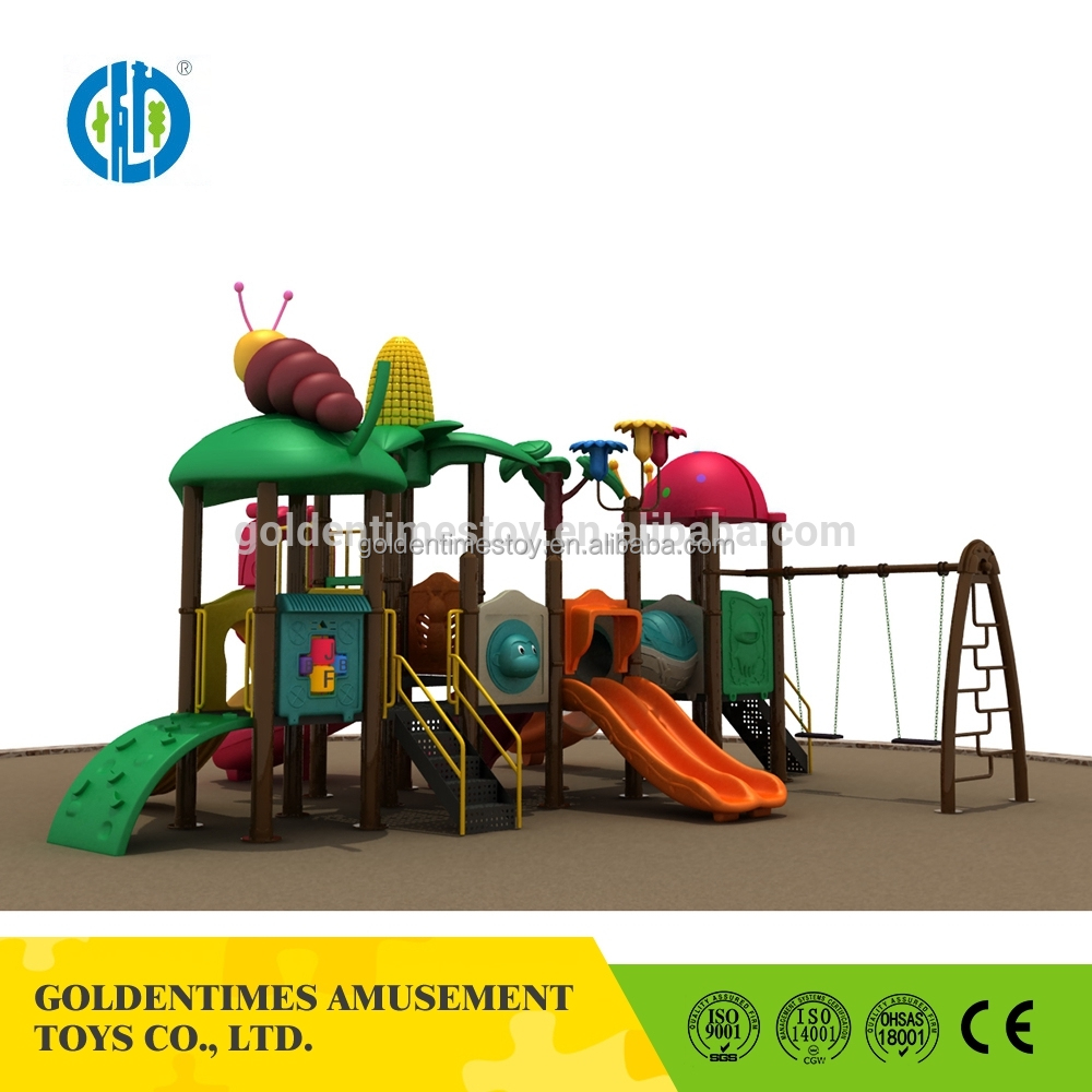 Custom high quality heavy duty outdoor slide playground equipment