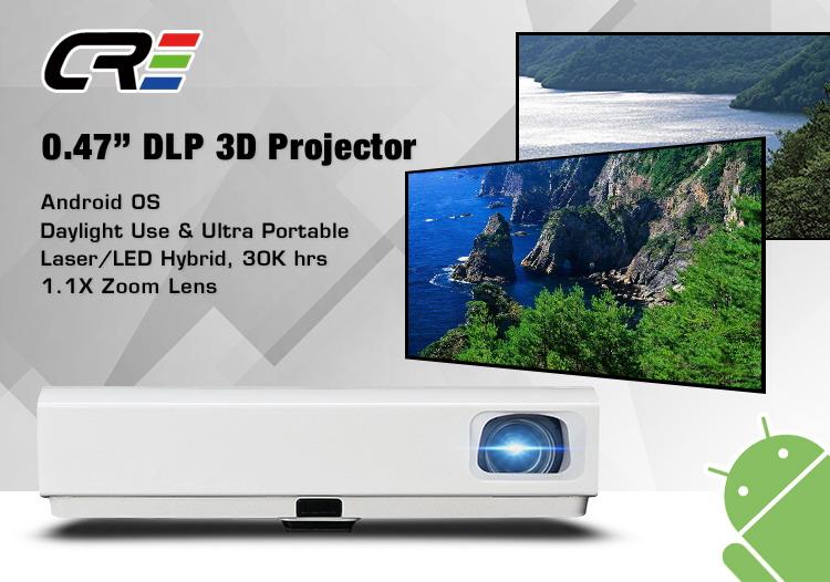 DLP Android aula educazione Della Lampada di trasporto commerciale proiettore del Teatro domestico 3000 lumen 3D DLP HA CONDOTTO il proiettore