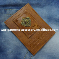 L-44 garment leather label,jeans leather label,nail polish private label
